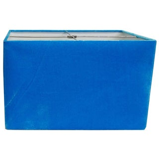 Rectangle Hardback Blue Felt Lamp Shade