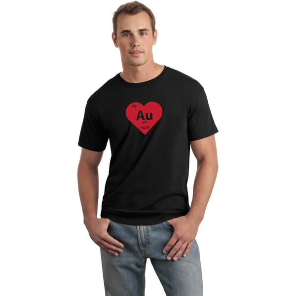Men's 'Heart of Gold' Black Valentine's T-Shirt