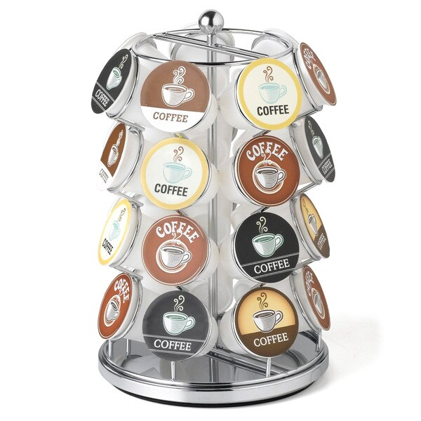 Nifty 28 K-Cup Chrome Carousel for Keurig Coffee Cups