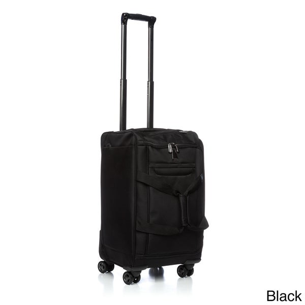 delsey luggage helium x 39 pert lite 18 inch carry on rolling spinner upright duffel free. Black Bedroom Furniture Sets. Home Design Ideas