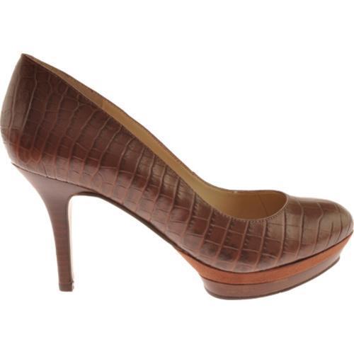 Women's Nine West Sevenna Dark Brown Croc Synthetic - Thumbnail 1