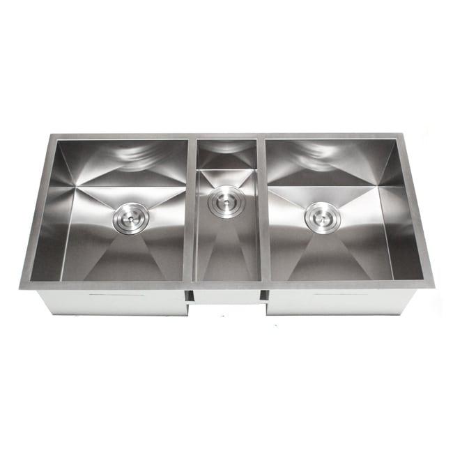 Ariel 42-Inch Triple Bowl Undermount Zero Radius Kitchen ...
