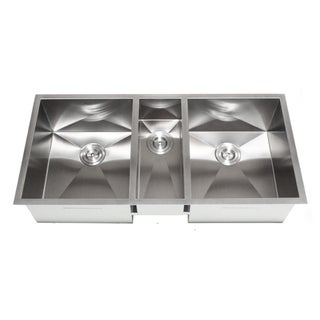 42-Inch Triple Bowl Undermount Zero Radius Kitchen Sink