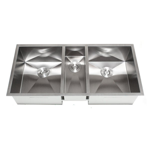 Zero Radius Kitchen Sink Part - 25: 42-Inch Triple Bowl Undermount Zero Radius Kitchen Sink