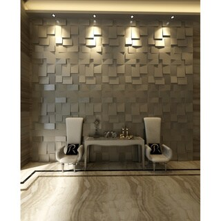 3D Cubes 10-piece Wall Panel Set