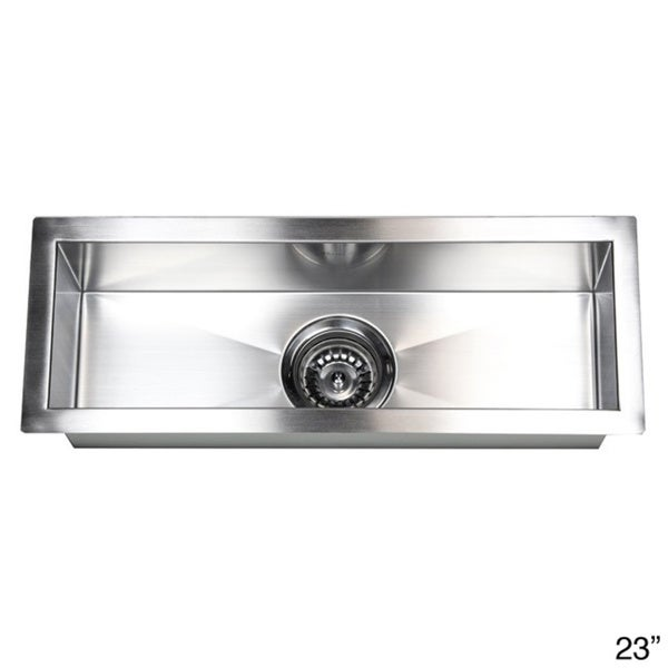 Shop Stainless Steel Undermount Kitchen Prep Bar Sink