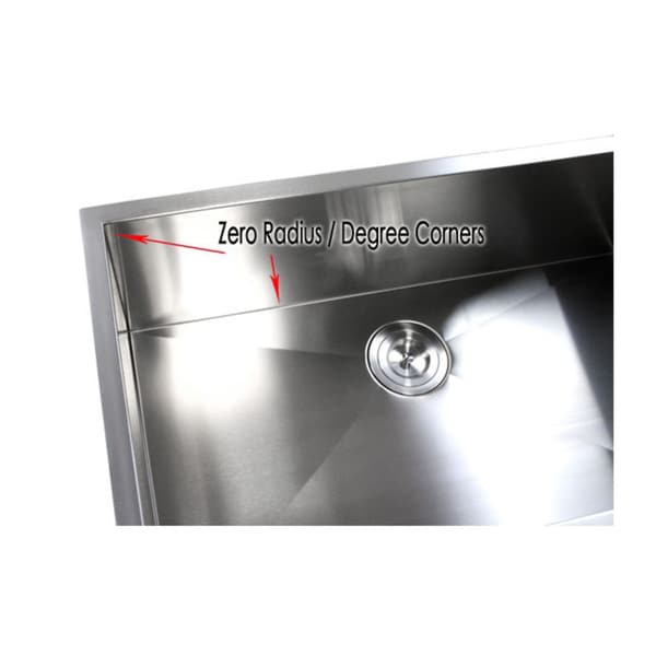 Lovely 32 Inch Double Bowl 40/60 Undermount Zero Radius Kitchen Sink   Free  Shipping Today   Overstock.com   15532947