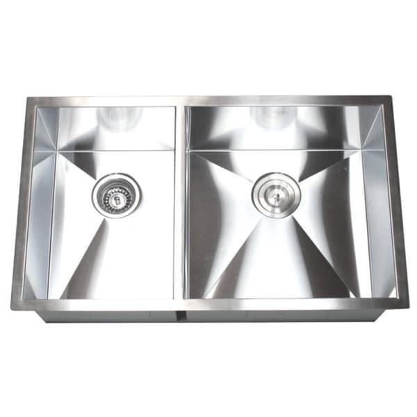 32 Inch Double Bowl 40/60 Undermount Zero Radius Kitchen Sink