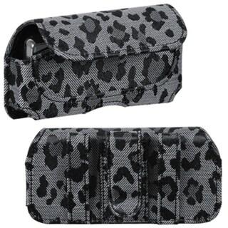 INSTEN Black/ Grey Watermark Horizontal Pouch for Samsung Behold II