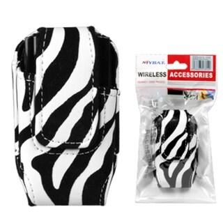 INSTEN Zebra Skin Vertical Pouch for Samsung M310/ A137/ U350/ A167