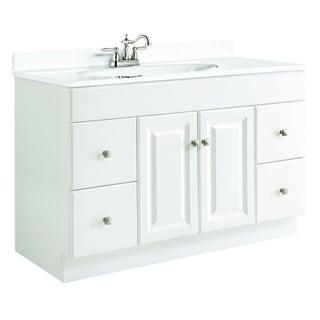 design house wyndham white semi gloss 4 drawer vanity cabinet
