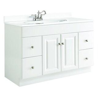 Design House Wyndham White Semi-Gloss 4-Drawer Vanity Cabinet
