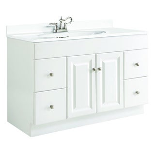 Charmant Design House Wyndham White Semi Gloss 4 Drawer Vanity Cabinet