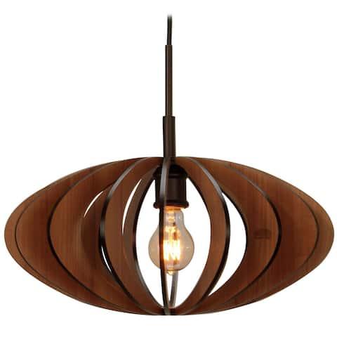 Canopy 1-light Aqua Tech Wood Slat Mini Pendant