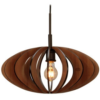 Canopy 1-light Aqua Tech Wood Slat Mini Pendant