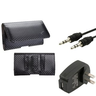 INSTEN Charger/ Audio Cable/ Horizontal Pouch for Apple iPhone 5