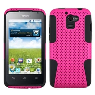 INSTEN Hot Pink/ Black Astronoot Phone Case Cover for Huawei M931 Premia 4G