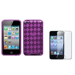 INSTEN Clear Screen Protector/ Candy Skin iPod Case Cover for Apple iPod Touch 4