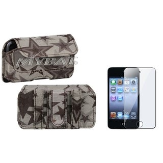 INSTEN Clear Screen Protector/ Horizontal Pouch for Apple iPod Touch 4