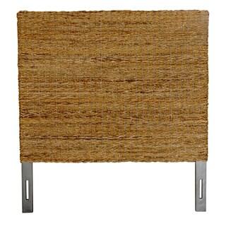 Meticulously Woven Brown Abaca Weave Headboard