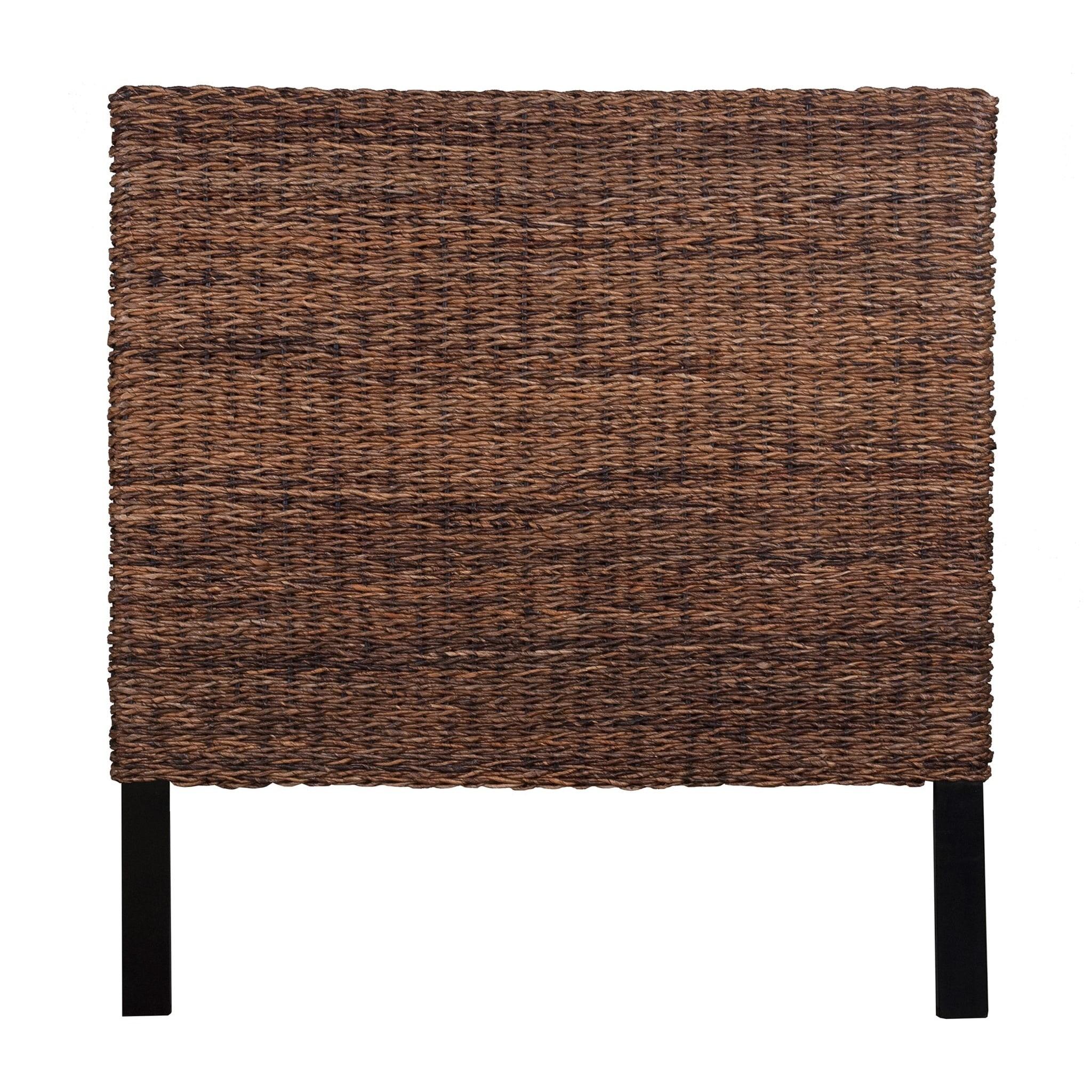 Jeffan Meticulously Woven Brown Abaca Weave Headboard (Ki...