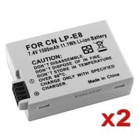 INSTEN Battery for Canon LP-E8/ Rebel T3i/ T2i/ 550D (Pack of 2)