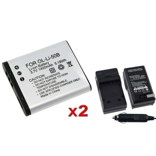 INSTEN Battery/ Charger for Olympus Stylus 1010/ 8010