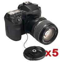 INSTEN Lens Cap Keeper for Sony/ Canon/ Nikon/ Olympus (Pack of 5)