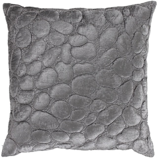 Surya Grey Down or Poly-filled Quilted 22-inch Decorative Throw Pillow