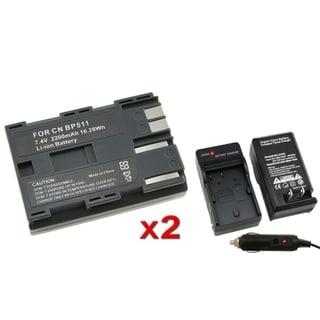 INSTEN Battery/ Charger for Canon BP-511/ EOS 20D/ 30D/ 50D/ 40D