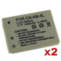 INSTEN Battery for Canon Powershot SX200 IS/ SX210 IS/ NB-5L (Pack of 2)