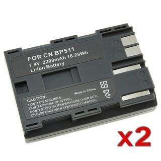 INSTEN Battery for Canon BP-511/ BP-508/ BP-512/ BP-522 (Pack of 2)