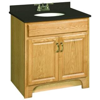 Design House Richland Nutmeg Oak 2 Door Vanity Cabinet