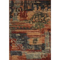 Eternity Aged Abstract Rug - multi - 3'11 x 5'7