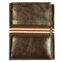 Men's Tri-fold Brown Leather Wallet