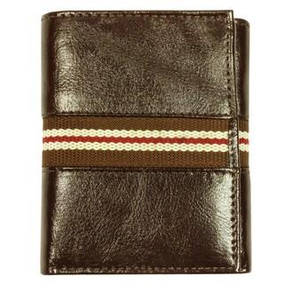 Men's Tri-fold Brown Leather Wallet