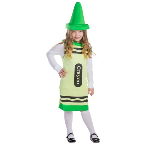 Childrens Green Crayon Costume
