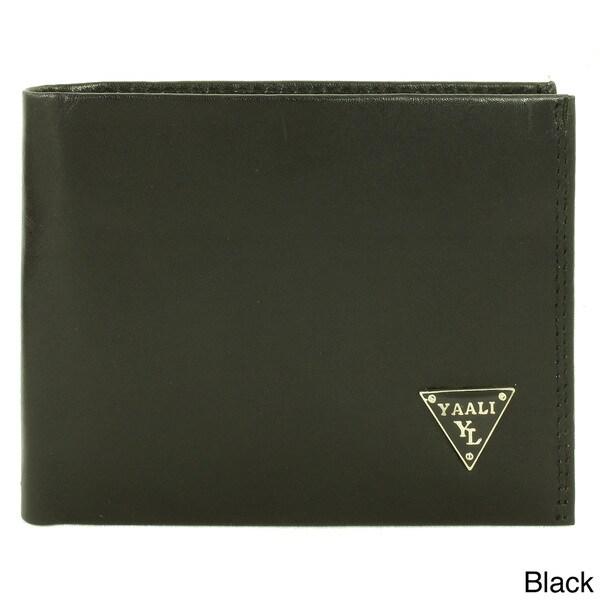YAALI Men's Leather Bi-fold Wallet
