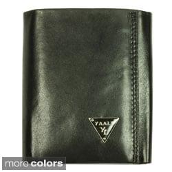 YAALI Men's Leather Tri-fold Wallet