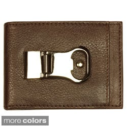 YL Men's Money Clip Leather Wallet