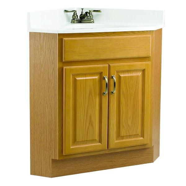 Design House Richland Nutmeg Oak 2 Door Corner Vanity