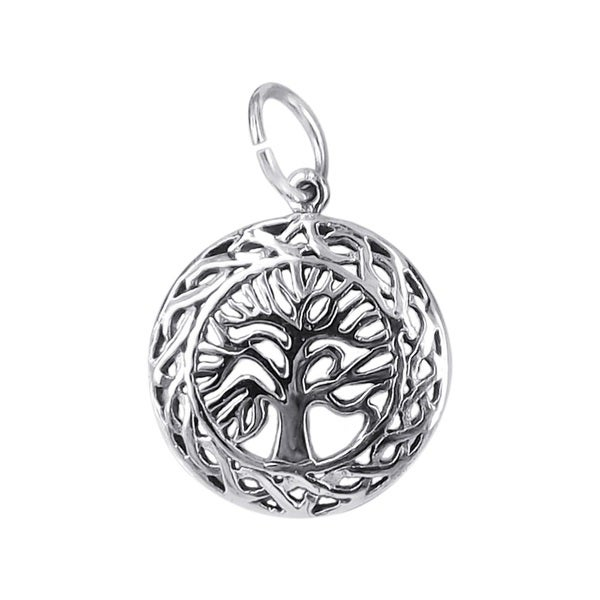 Celtic Framed Tree of Life .925 Silver Pendant or Charm (Thailand)