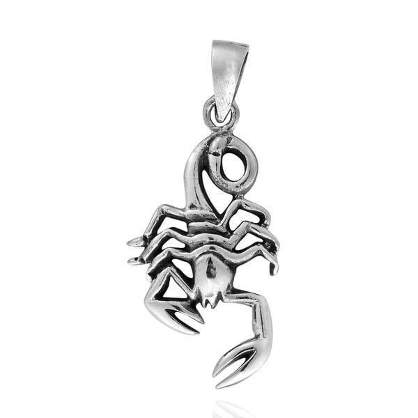 Handmade Guarded Scorpion .925 Sterling Silver Pendant (Thailand)