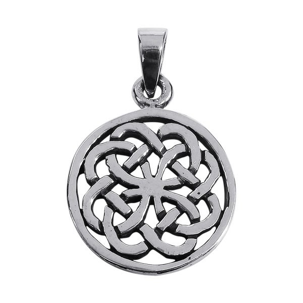 Handmade Encircled Celtic Knots .925 Sterling Silver Pendant (Thailand)