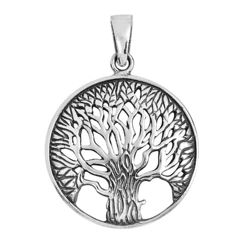 Handmade Magnificent and Inspiring Tree of Life Sterling Silver charm Pendant (Thailand)
