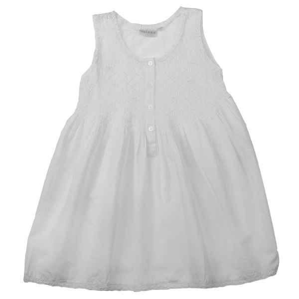 Embroidered Machine-Washable Children's Nightgown