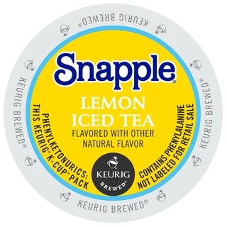 Snapple Lemon Iced Tea K-Cup Portion Packs for Keurig K-Cup Brewer