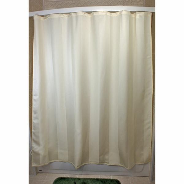Essence Stripe Parchment Shower Curtain