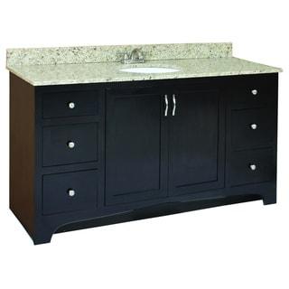 Design House Ventura Espresso 4-Drawer Vanity Cabinet