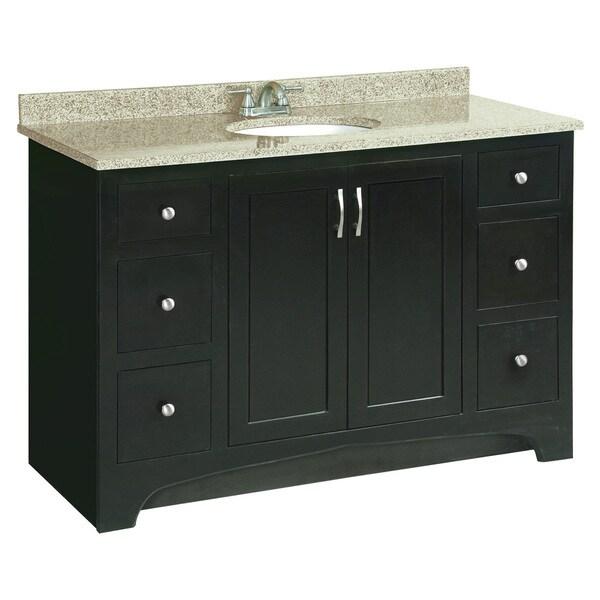 Design house ventura espresso vanity cabinet free for Bathroom cabinets ventura
